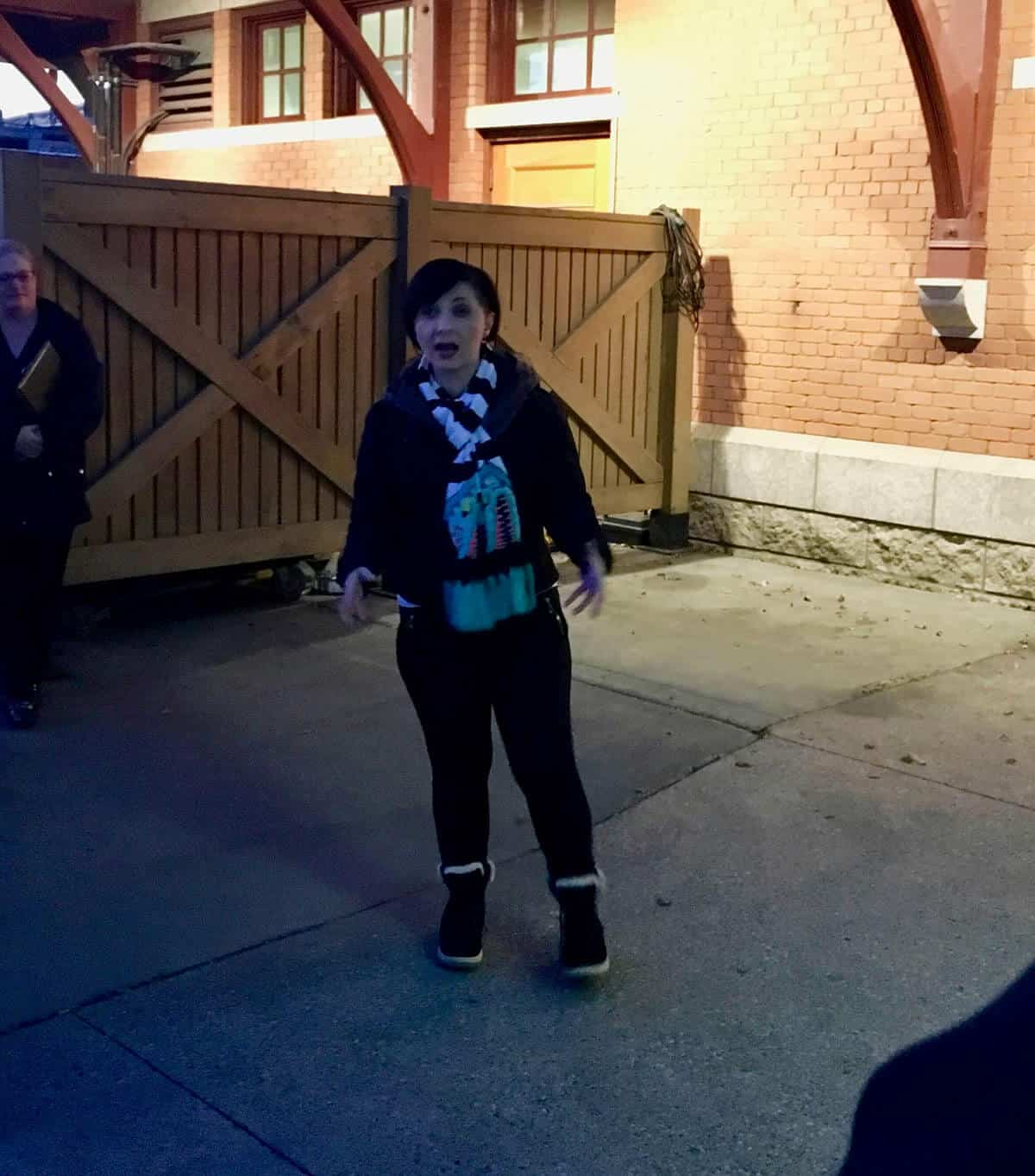 Morgan Knudsen, Woman, Outside MKT, Ghost Tour, Paranormal Tour, Paranormal Investigator