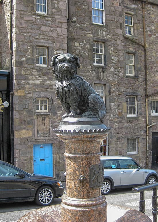 Statue of Bobby the Skye Terrior from Greyfriars Bobby