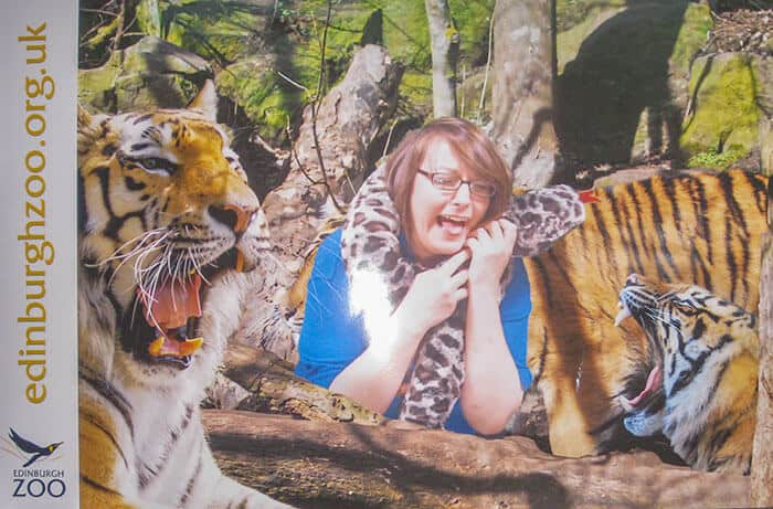 Crystal working at Edinburgh Zoo - photo taken in the photo booth