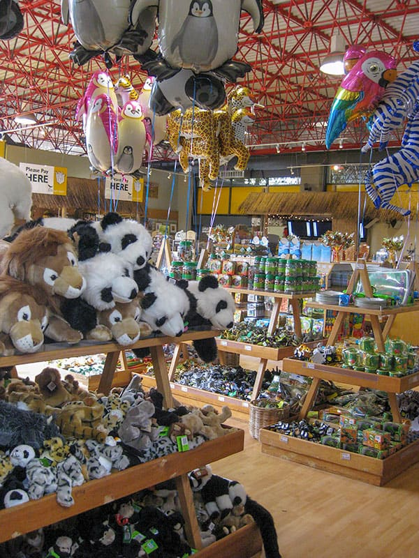View of the gift shop at Edinburgh Zoo