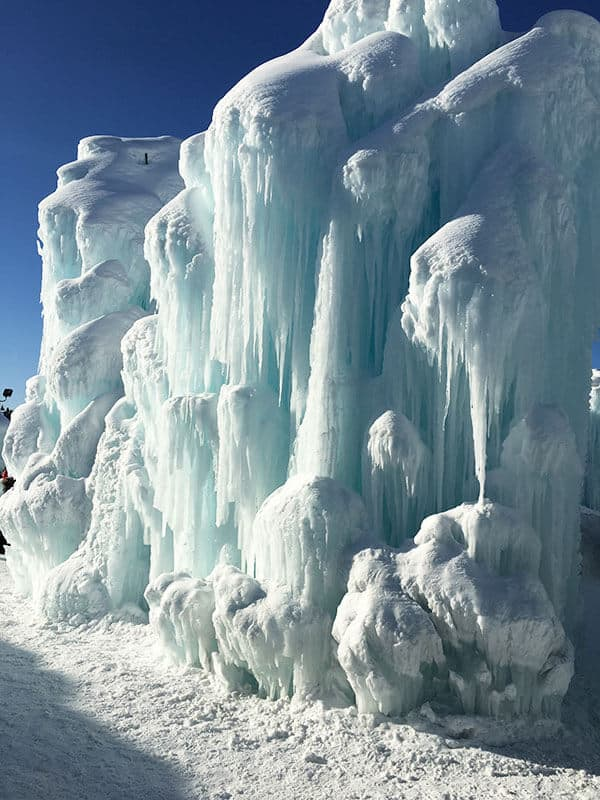 Edmonton Ice Castle in Hawrelak Park