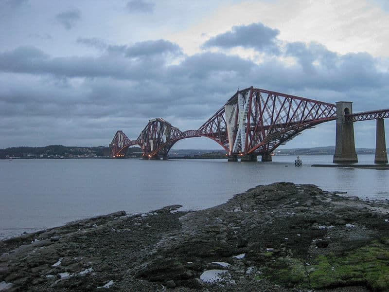 Forth Bridge in the Firth of Forth in Scotland. I would go down here when I was lonely and homesick.
