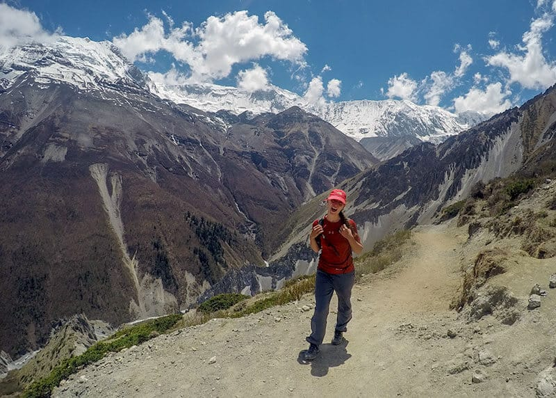Michelle from Full Time Explorer exploring Nepal