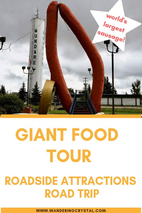 Giant Food Tour - Giant Roadside Attraction - World's Largest Sausage!
