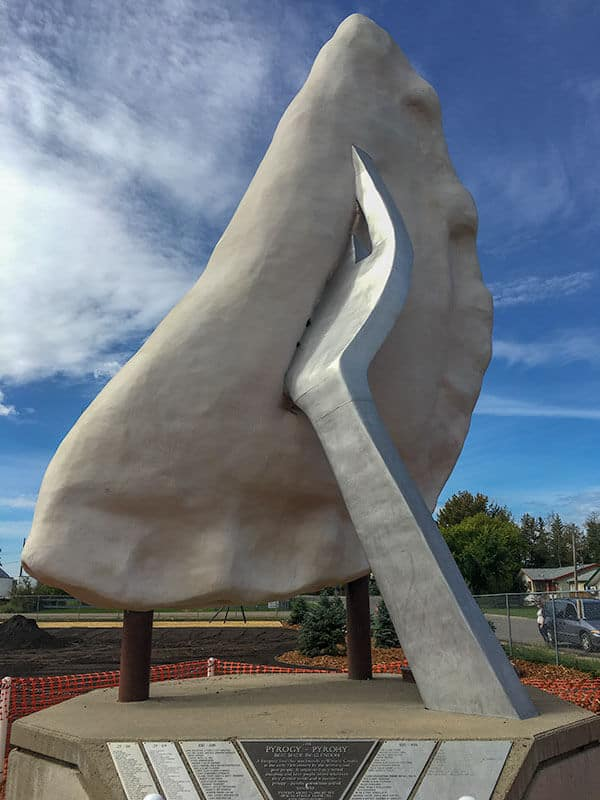 Giant Roadside Attractions - The Giant Perogy in Glendon Alberta