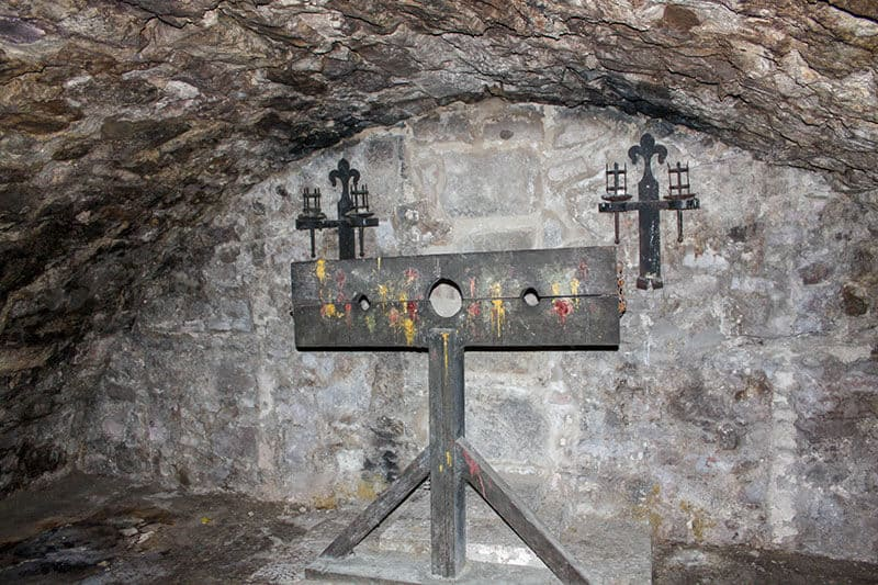 Pillory in the Edinburgh Vaults
