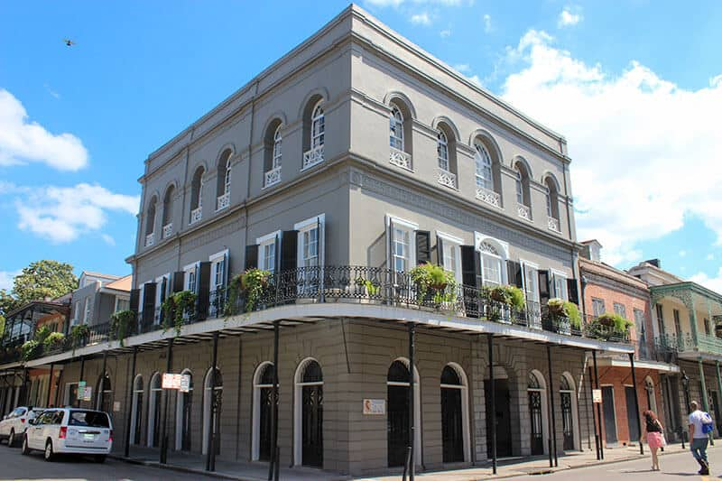 Haunted LaLaurie Mansion where Nicolas Cage once lived.