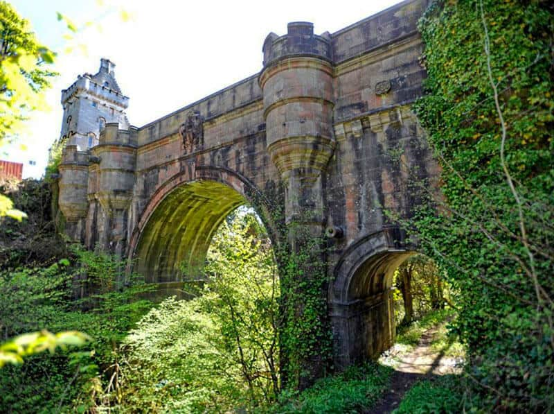 Overtoun Bridge in Scotland - well known for being the suicide bridge for local dogs.