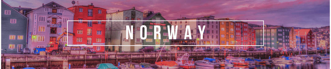 Norway Blogs - Bergen colorful buildings with norway in white text