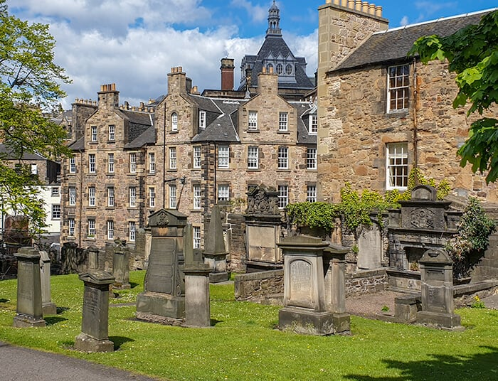 Greyfriar's Cemetery during the day for spooky scary ghost tours