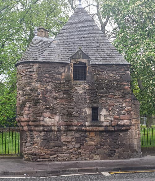 Queen Mary's Bath House near Holyrood Palace in Edinburgh