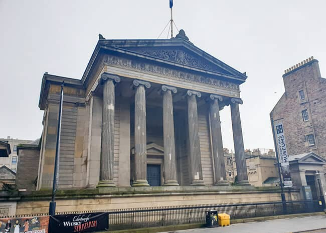 Exterior of Surgeons' Hall Museum in Edinburgh