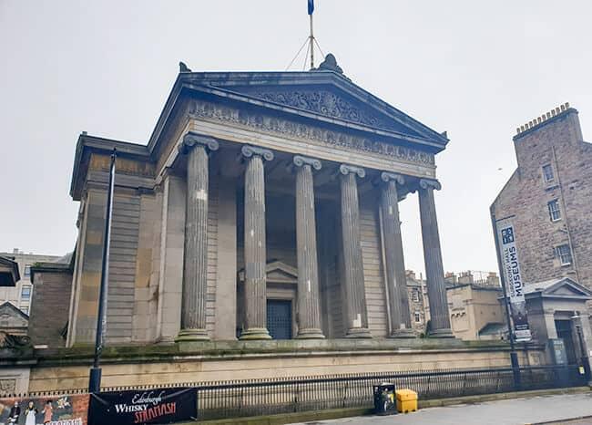 Exterior of Surgeons' Hall Museum in Edinburgh