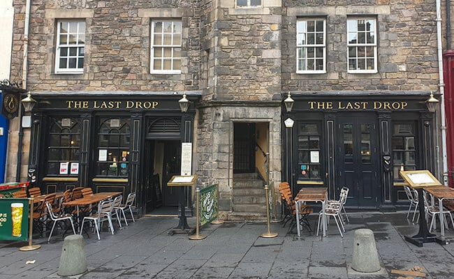 The Haunted Last Drop Pub in Edinburgh Scotland