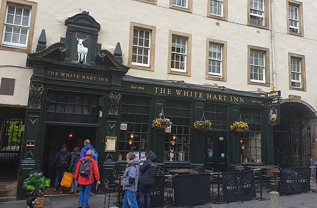 The White Hart Inn in the Grassmarket in Edinburgh