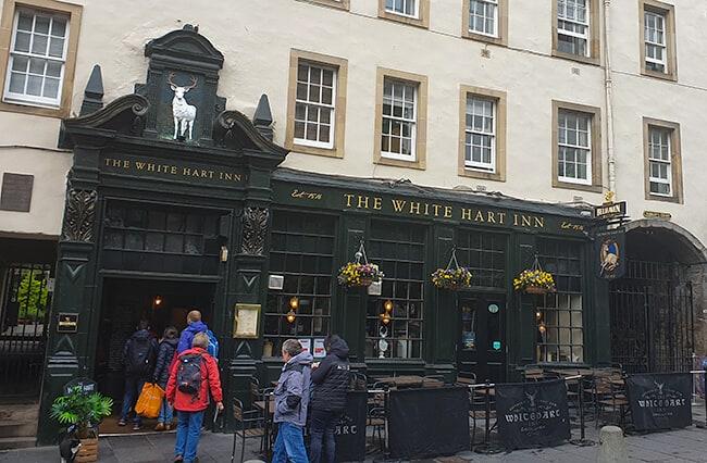 The White Hart Inn in the Grassmarket in Edinburgh