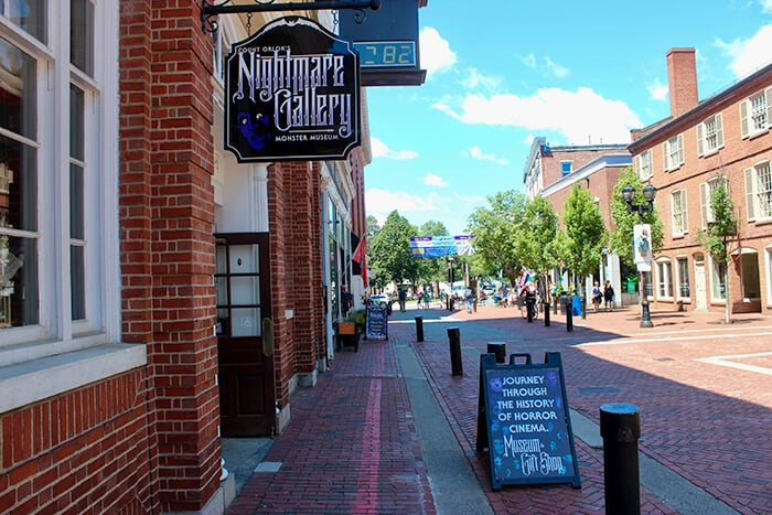 The outside of Count Orloks Nightmare Gallery in Salem