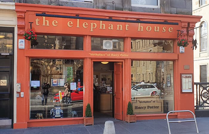 The Elephant House in Edinburgh - the front of the cafe where JK Rowling wrote Harry Potter