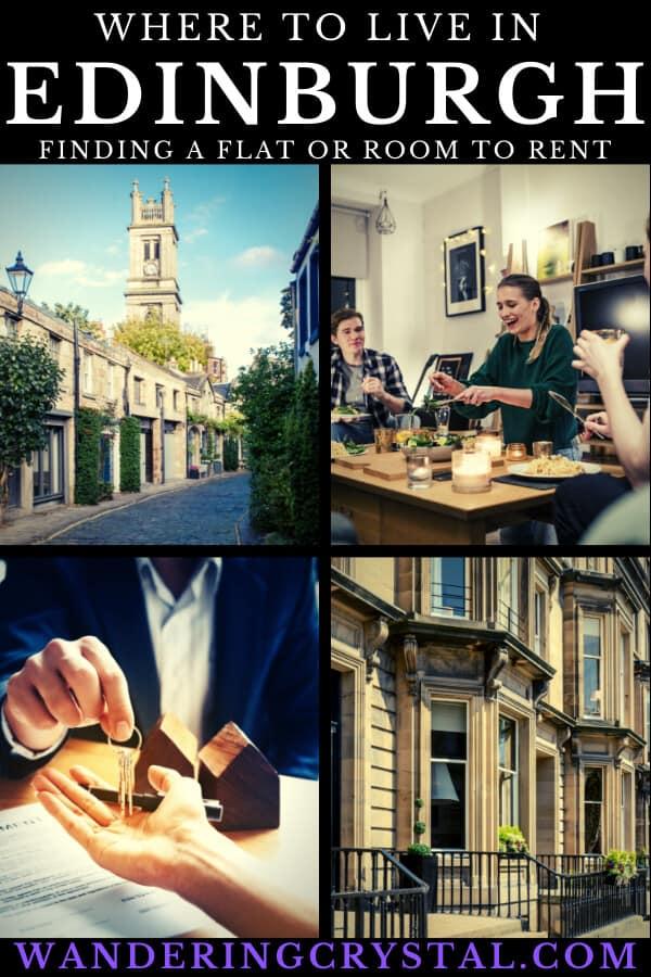 Where to live in Edinburgh - Finding a Flat or Room to Rent and Finding a Place to Live in Edinburgh #Scotland #Expat #LivingAbroad #Edinburgh