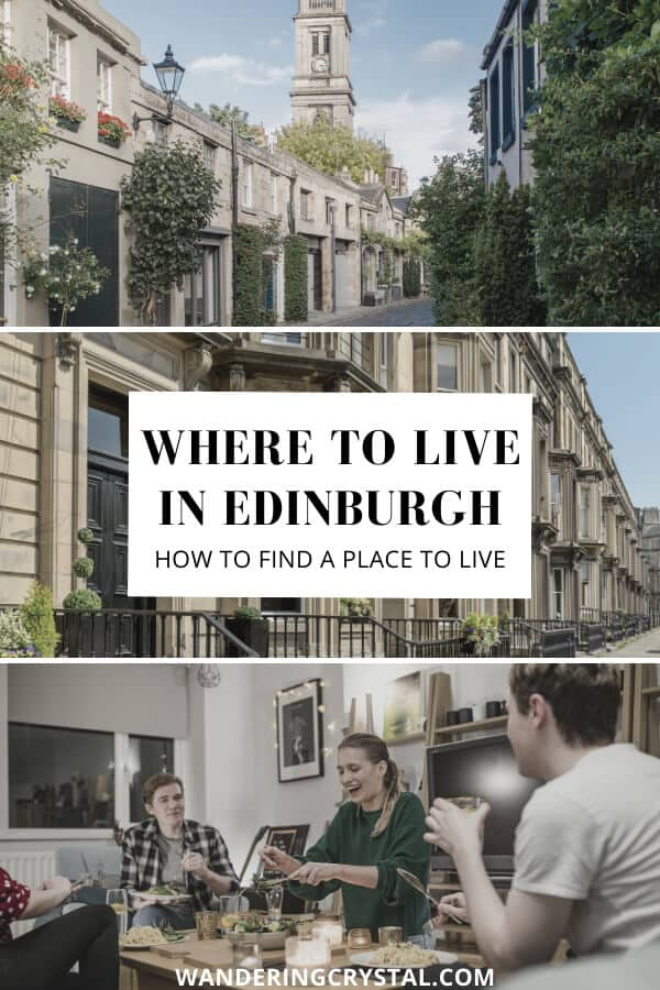Where to live in Edinburgh - Finding a Flat or Room to Rent and Finding a Place to Live in Edinburgh #Scotland #Expat #LivingAbroad #Edinburgh