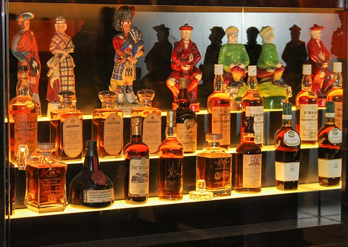 Scotch Whisky Bottles shaped as Scottish characters