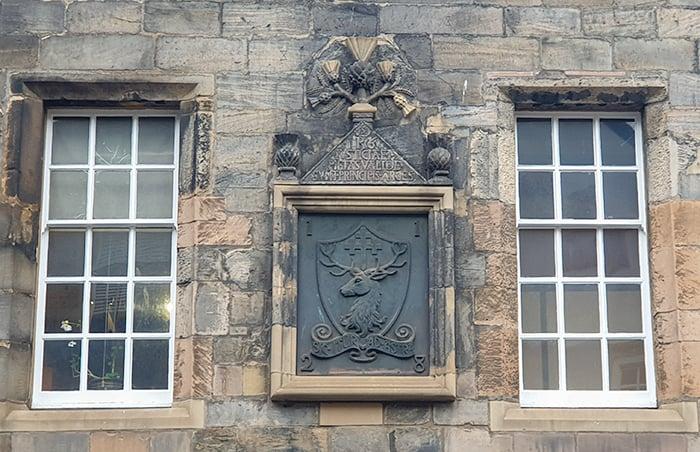 Bronze Deer Plaque dedicated to King James V