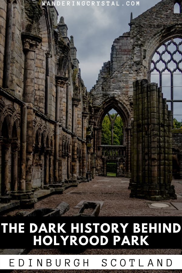 Dark History at Holyrood Park in Edinburgh Scotland Pin