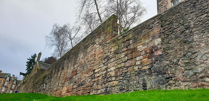 A large section of the wall in Edinburgh Scotland