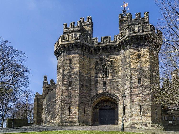 Lancaster Castle entrance in England