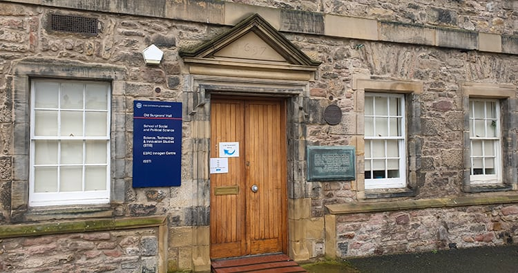 The doors to the Old Surgeons Hall where Burke and Hare took their corpses. Burke and Hare Edinburgh Tour.