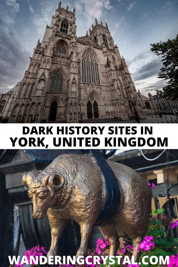 dark history sites and haunted places in York, England