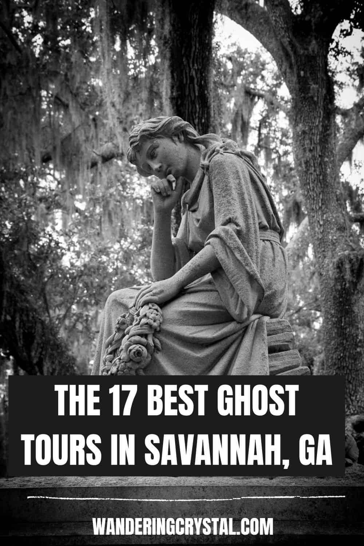 best ghost tours in Savannah pin
