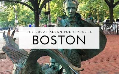 The Edgar Allan Poe Statue in Boston