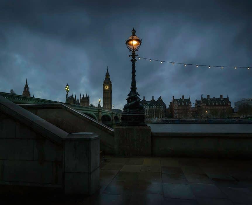London, United Kingdom at night